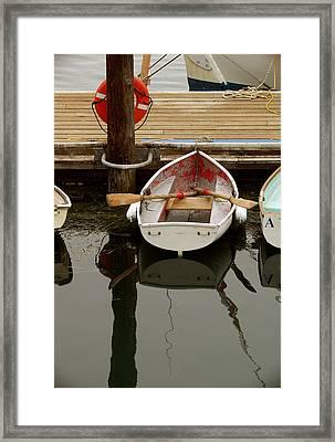 Morrow Bay Skiff Framed Print