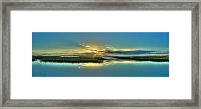 Framed Print featuring the photograph Morse Park Landing Sunrise by Ed Roberts