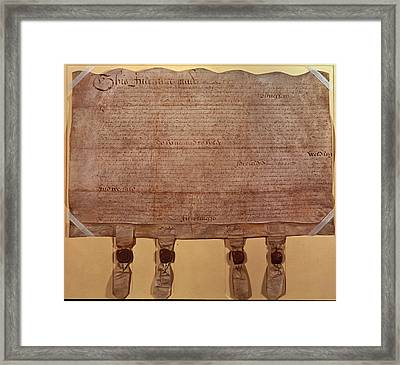 Mortgage Deed Of Shakespeare Framed Print