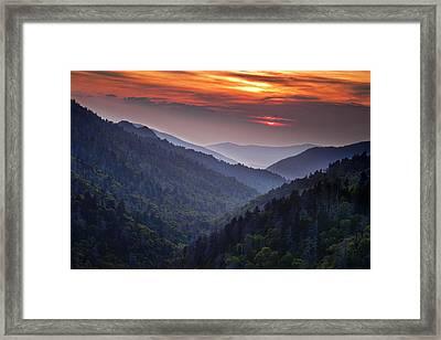 Morton Overlook Sunset Framed Print