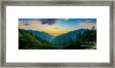 Mortons Overlook Panoramic Framed Print by Anthony Heflin