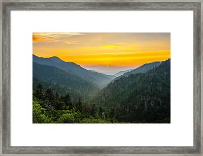 Mortons Overlook Sunset Framed Print by Anthony Heflin