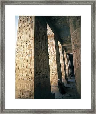 Mortuary Temple Of Ramesses II. Egypt Framed Print