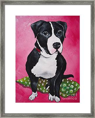 Morty Framed Print by Leslie Manley