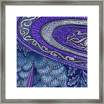Mosaic Abstract Framed Print by Tony Rubino