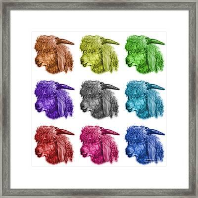 Mosaic Angora Goat - 0073 F - M - Wb Framed Print