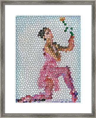 Mosaic Ballerina Framed Print by Nina Bradica