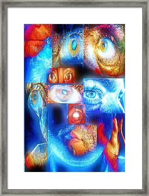 Mosaic Framed Print by Beto Machado