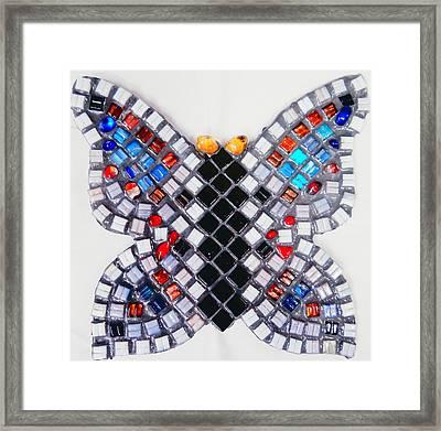 Mosaic Butterfly Framed Print by Lisa Brandel