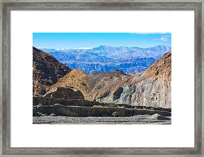 Framed Print featuring the photograph Mosaic Canyon Picnic by Stuart Litoff