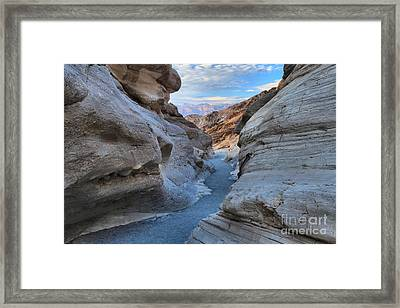 Mosaic Canyon Twilight Framed Print