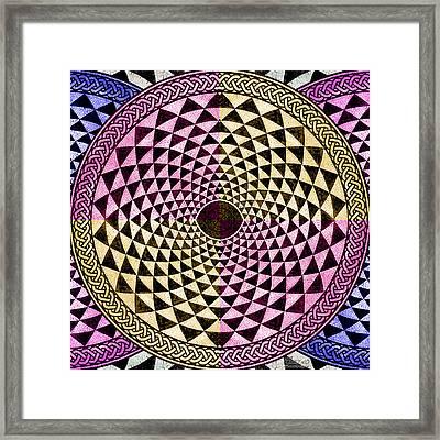 Mosaic Circle Symmetric  Framed Print by Tony Rubino