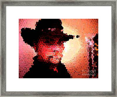 Mosaic Cowboy Framed Print