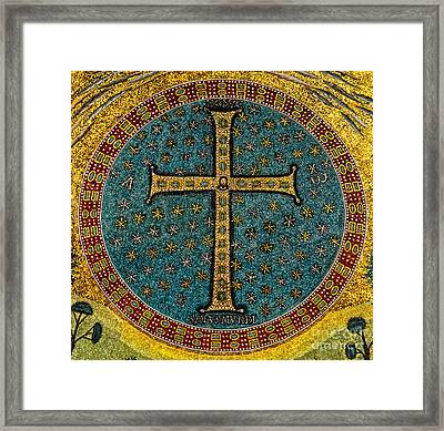 Mosaic Cross Ravenna I Framed Print