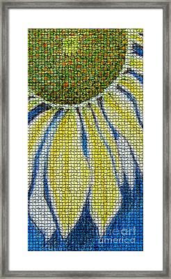 Mosaic Daisy Framed Print by Patricia Januszkiewicz