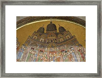 Mosaic Detail On San Marco Basilica Framed Print by Sami Sarkis