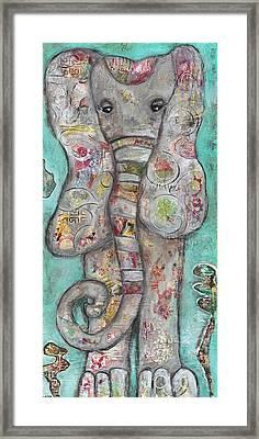 Mosaic Elephant Framed Print