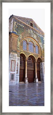 Mosaic Facade Of A Mosque, Umayyad Framed Print by Panoramic Images