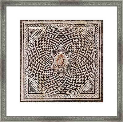 Mosaic Floor With  Head Of Medusa Unknown Rome Framed Print by Litz Collection