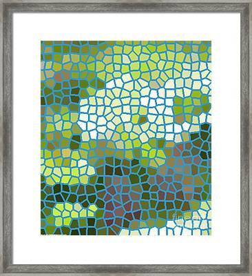 Mosaic Flower Framed Print by PainterArtist FIN