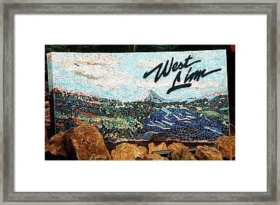 Mosaic For The City Of West Linn Oregon Framed Print by Charles Lucas