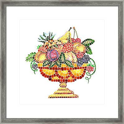 Mosaic Fruit Vase Framed Print