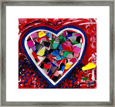 Mosaic Heart Framed Print by Genevieve Esson
