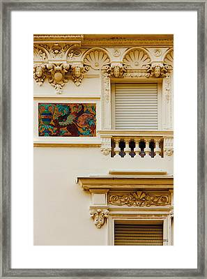 Mosaic In Nice France Framed Print