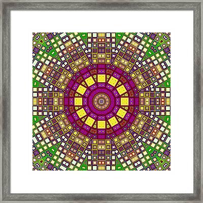 Mosaic Kaleidoscope 3 Framed Print by Shawna Rowe