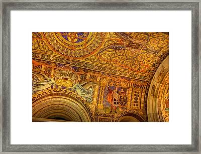 Mosaic - Kasier Wilhelm Memorial Church - Berlin Germany Framed Print