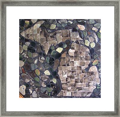 Mosaic Map Of Michigan Framed Print