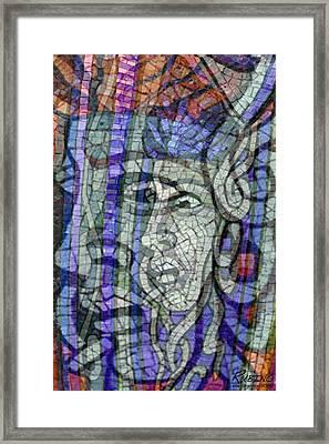 Mosaic Medusa Framed Print by Tony Rubino