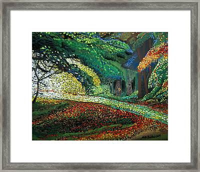 Mosaic Nature Walk Framed Print