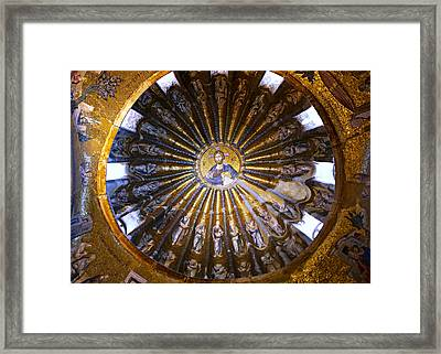 Mosaic Of Christ Pantocrator Framed Print by Stephen Stookey