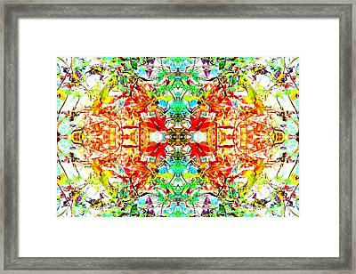 Mosaic Of Spring Abstract Art Photo Framed Print
