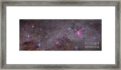 Mosaic Of The Carina Nebula And Crux Framed Print by Alan Dyer