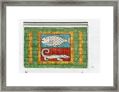 Mosaic Painting, Jakarta, Indonesia Framed Print by Keren Su