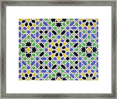Mosaic Pavement In The Alhambra Framed Print