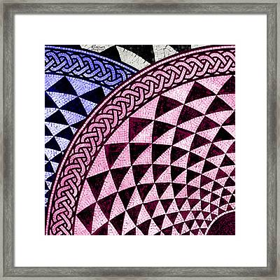Mosaic Quarter Circle Top Left  Framed Print by Tony Rubino