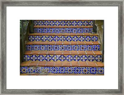 Mosaic Steps Framed Print