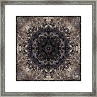 Mosaic Tile / Gray Tones Framed Print by Elizabeth McTaggart