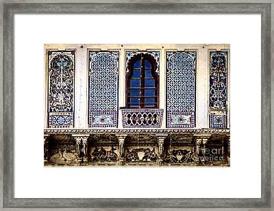 Mosaic Windows Framed Print by Catherine Arnas
