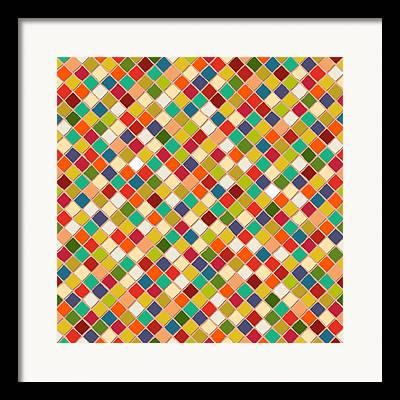 Diagonal Drawings Framed Prints