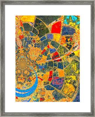 Mosaik Framed Print by Nico Bielow