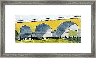 Moscow. Andronikov Viaduct Framed Print by Lelia Sorokina