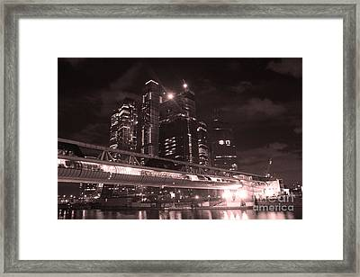 Moscow At Night Framed Print by Lali Kacharava