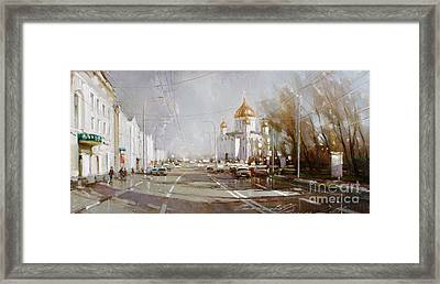 Moscow. Cathedral Of Christ The Savior Framed Print by Ramil Gappasov