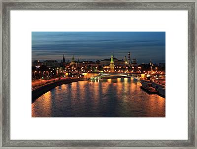 Moscow Kremlin At Night Framed Print