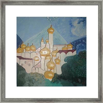 Moscow - Kremlin Framed Print by Preciada Azancot