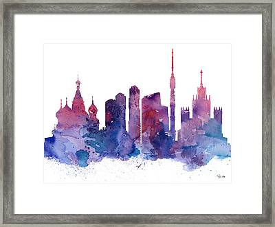 Moscow Framed Print by Watercolor Girl